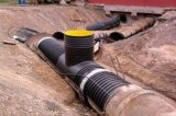 Stahlband-Stärke PET Spirale HDPE gewölbtes Rohr