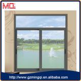 Алюминиевое стеклянное окно с серым цветом