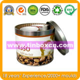 Contenitore rotondo di stagno del metallo di imballaggio per alimenti