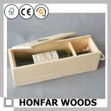Подгоняйте коробку хранения упаковки вина логоса деревянную для декора