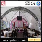 Tienda al aire libre del banquete de boda del braguero del triángulo de la dimensión de una variable del arco con la cubierta de PVDF
