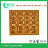 Máscara roja de soldadura PCB chapado en oro con UL y certificados ISO