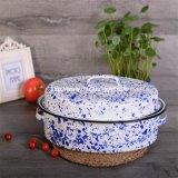 Cuisinier ovale moyen d'appareils de vaisselle de cuisine de rôtissoire d'émail