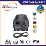실내 Hydroponic 승인된 UL를 가진 가벼운 315W CMH 디지털 밸러스트를 증가한다