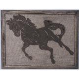 Античная лошадь украшения стены дома металлической пластинкы стены искусствоа стены вися