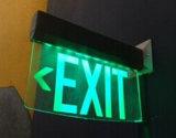 Il LED esce il segno, segno dell'uscita di sicurezza, segno dell'uscita, segno di Salida