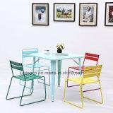 Таблица и стул металла оптовых Multi цветов прочные для обедать (SP-CT759)