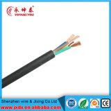 Câble souple de cuivre de gaine de PVC de conducteur de faisceau de Rvv 3+1