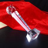 Trofeo de la mano barata de cristal de cristal para el regalo del negocio