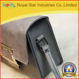 여자 브라운 지갑 금속 정연한 버클을 채우는 소형 PU 가죽 짧은 동전 지갑