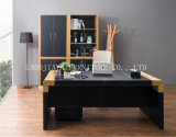 신제품 인간 환경 공학 나무로 되는 가죽 사무실 책상 (V29)