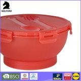 LFGB pp. Plasitc Salat-Filterglocke mit Kappe und Gabel-Cup