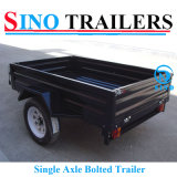 Revêtement en poudre Single Axle Small Box Truck Trailer