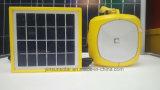 lâmpada solar de leitura e de acampamento de 2W com o mini painel solar