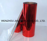 Aluminium Twist Sweet Wrapper Roll Film pour Emballage / Metalized Red Twist PVC Film