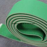 경사를 위한 녹색 고무 거친 컨베이어 벨트