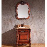 Pintura moderna brillante baño vanidades Gabinete de madera (GSP14-010)