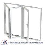 Finestra di vetro Bi-Piegante di scivolamento dell'alluminio