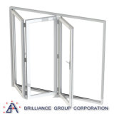 Aluminium-Bi-Faltendes schiebendes Glasfenster