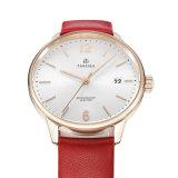 숙녀 가죽끈 71281를 가진 주문 로고 스테인리스 손목 시계