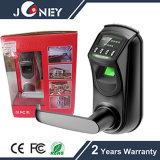 Fechamento especial da impressão digital da biometria do projeto com indicador de OLED
