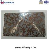 Feuille en bronze de décoration d'acier inoxydable gravure