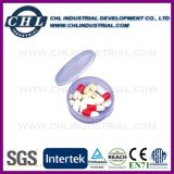 Fornitore di plastica a forma di del contenitore della pillola del cuore con l'anello portachiavi del metallo