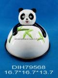 Biscotto del panda/contenitore di ceramica dipinti a mano pane/di caramella