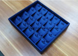 عادة [مدف] مجوهرات صينيّة يلفّ مع زرقاء [بو] جلد