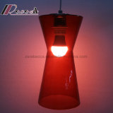 De moderne Rode Lamp Van uitstekende kwaliteit van de Tegenhanger van het Glas voor Staaf