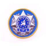 Distintivo personalizzato del ricamo del banco della polizia