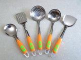 Комплект Kitchenware нержавеющей стали 5 PCS установленный с полой ручкой