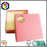 Rectángulo de regalo rígido del papel de la cartulina del corazón de la ventana especial de la dimensión de una variable para la joyería
