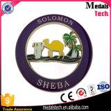 Contrassegno su ordinazione del sacchetto dello smalto della fabbrica della Cina di marchio del metallo di colore morbido dell'oro