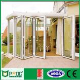 De Legering die van het aluminium Deur met Dubbel Glas vouwen