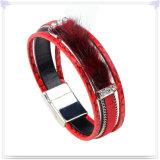 De Armband van het Leer van de Juwelen van het Leer van de Juwelen van het roestvrij staal (LB784)