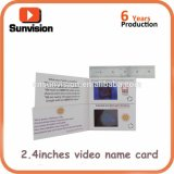 2.4inch cartão video LCD Namecard