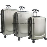 Silver Grey 3PC Hardside Luggage Spinner Suitcase Set