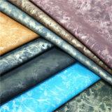 Cuero sintetizado material de la PU de la garantía de calidad para los zapatos, bolsos