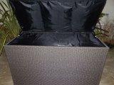 큰 등나무 방석 저장 상자
