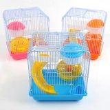 Villa ronde vente en plastique de cage de hamster de deux couches
