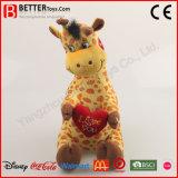 Giraffe de jouet de cadeau d'Aniamal bourrée par jour de Valentine