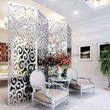 Écrans décoratifs de pièce coupés par laser d'acier inoxydable de modèle moderne