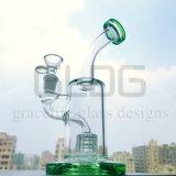 Gldg 10 Duim - de lange Waterpijp van het Glas van Perc van de Matrijs Kleine Eenvoudige