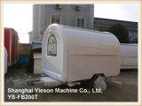 Do carro branco do cão quente do caminhão do alimento de Ys-Fb200t reboque móvel do alimento