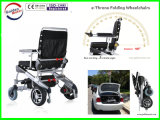 10inch portátil ligero Silla de ruedas eléctrica plegable De Oro Motor