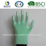 Покрынная PU перчатка безопасности работы (SL-PU201G1)