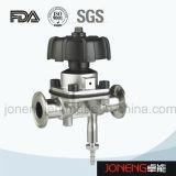 Válvula de diafragma higiénica de tres vías del acero inoxidable (JN-DV1011)