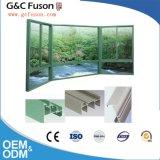 Guichet de glissement en aluminium r3fléchissant vert normal moderne en verre Tempered
