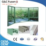 Ventana de desplazamiento de aluminio reflexiva verde estándar moderna del vidrio Tempered